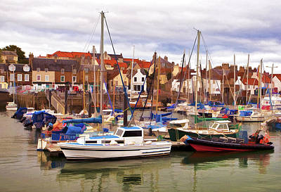 Fife Photograph - Ansthruther Harbor by Marcia Colelli