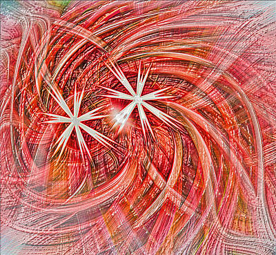 Swrils Digital Art - Anstract With Stars by Linda Phelps