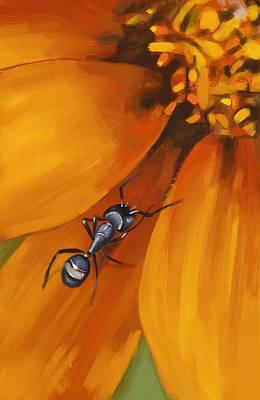 Ant Digital Art - Ant by Arie Van der Wijst