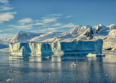 Photograph - Antarctic Iceberg by Alan Toepfer
