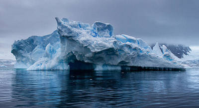 Photograph - Antarctic Iceberg Cave by June Jacobsen