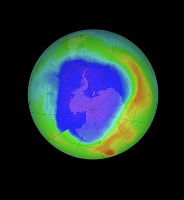 Antarctic Ozone Hole Art Print by Nasa/goddard Space Flight Center