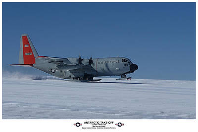 Antarctic Take-off Art Print by David Barringhaus