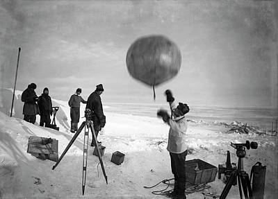 Meteorologist Photograph - Antarctic Weather Balloon Research by Scott Polar Research Institute