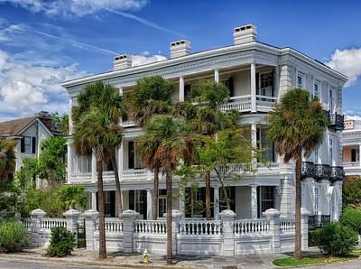 Photograph - Antebellum Home - Charleston by Frank J Benz