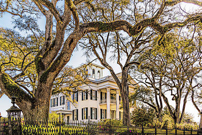 Antebellum Mansion Art Print