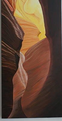 Grande Painting - Antelope Canyon 2 by Paul Santander