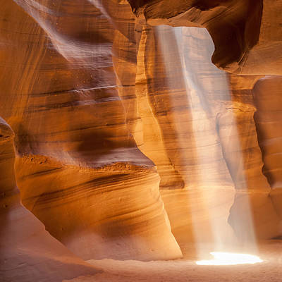 Antelope Canyon Light Beam Art Print by Melanie Viola