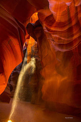 Antelope Canyon - Sand In The Light Art Print by Angela A Stanton