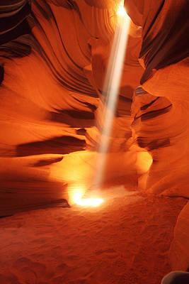Photograph - Antelope Canyon Sunbeam-10 by Alan Vance Ley