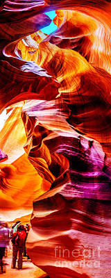 Abstract Graphics Rights Managed Images - Antelope Canyon Tour Royalty-Free Image by Az Jackson