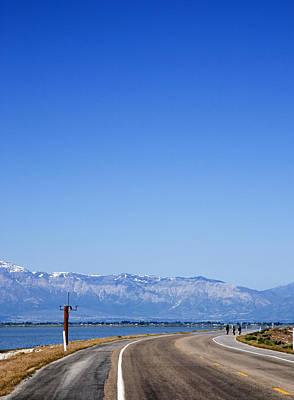 Photograph - Antelope Island Causeway Utah  by Bob Pardue