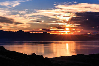 Firefighter Patents Royalty Free Images - Antelope Island Sunset Royalty-Free Image by Gina Herbert