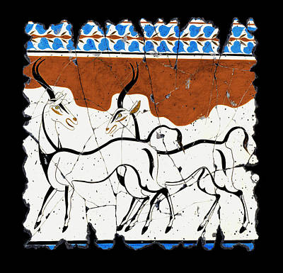 Antelope Of Akrotiri Art Print by Steve Bogdanoff