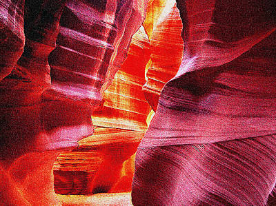 Photograph - Antelope Slot Canyon  by Bob and Nadine Johnston
