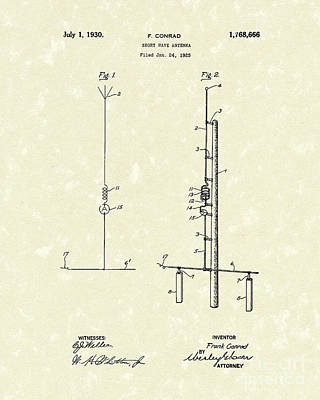 Antenna 1930 Patent Art Art Print by Prior Art Design