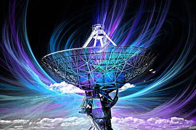 Cosmos Digital Art - Antenna by David Cowan