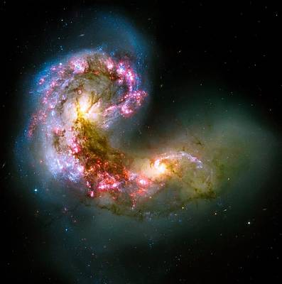 Photograph - Antennae Galaxies by Eti Reid