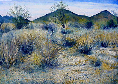 South African Artist Painting - Anthem Arizona Usa by Enver Larney