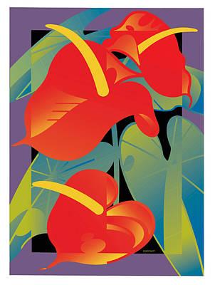Anthurium Art Print