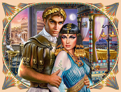 Anthony And Cleopatra Art Print by Andrew Farley