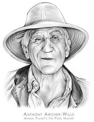 Animals Drawings - Anthony Archer-Wills by Greg Joens