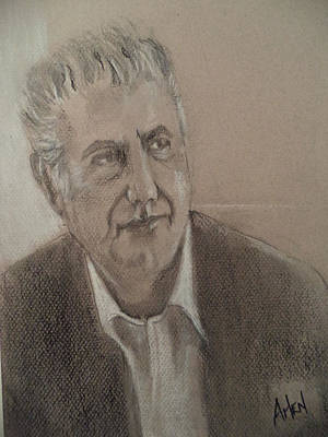 Pastel - Anthony Bourdain by Arlen Avernian Thorensen