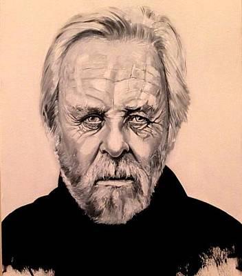 Anthony Hopkins Painting - Anthony Hopkins Portrait by Saeed Motlagh