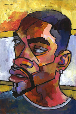 Black Man Painting - Anthony Waiting In The Car by Douglas Simonson