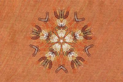 Anthropomorphic Mandala Art Print by Hakon Soreide