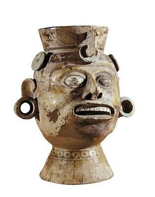 Ceramics Photograph - Anthropomorphic Vase. Ca.  800. Mixtec by Everett