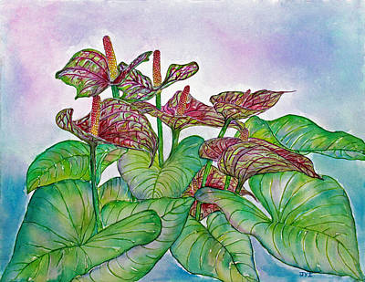 Painting - Anthurium by Janet Immordino