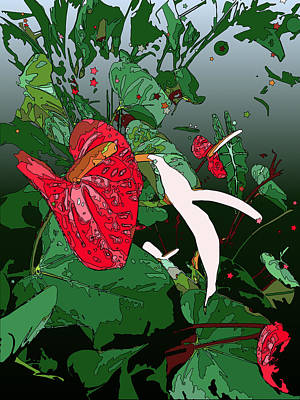 Wind Surfing Painting - Anthuriums by Stacy Vosberg