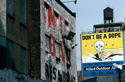 Advocacy Photograph - Anti-drug Billboard by Jan Lukas