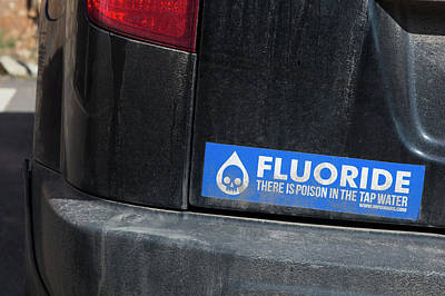 Stickers Photograph - Anti-fluoride Bumper Sticker by Jim West