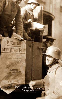 Berlin Drawing - Anti-revolution Propaganda, Berlin Germany 1920 by Litz Collection