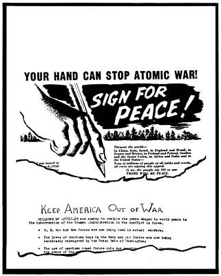 Anti-war Painting - Anti-war Leaflet, 1950 by Granger