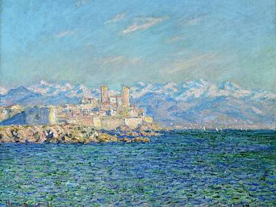 Boston Painting - Antibes - Afternoon Effect by Claude Monet