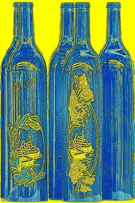 Impressionism Photos - Antibes Blue Bottles by Ben and Raisa Gertsberg