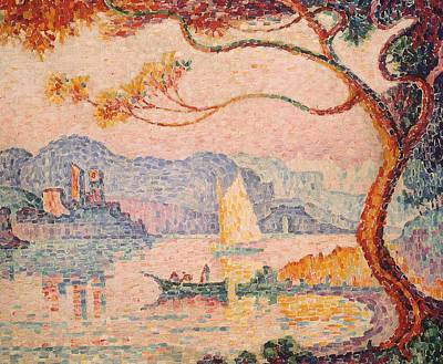 Pointillist Painting - Antibes  Petit Port De Bacon by Paul Signac