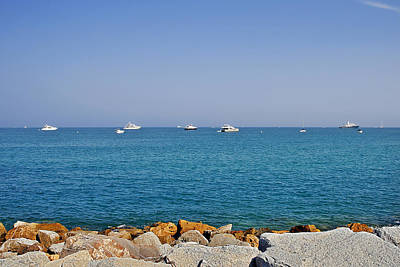 French Photograph - Antibes - Superyachts Of Billionaires by Christine Till