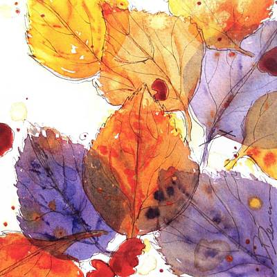 Watercolor And Ink Painting - Anticipating Autumn by Dawn Derman