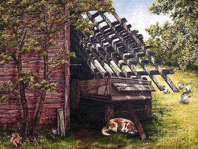 Painting - Anticipation - Farm Life by Sher Sester