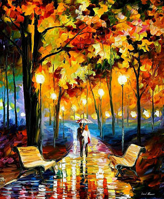 Anticipation Of Happiness - Palette Knife Oil Painting On Canvas By Leonid Afremov Original by Leonid Afremov