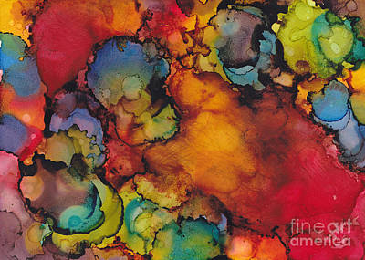Alcohol Ink Painting - Antidote To Grey Days by Louise Lamirande