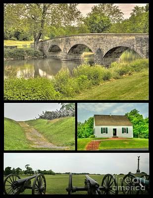 Photograph - Antietam Collage by Jonathan Harper