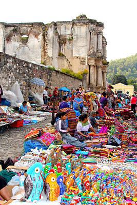 Marketplace Wall Art - Photograph - Antigua Guatemala by Carey Chen