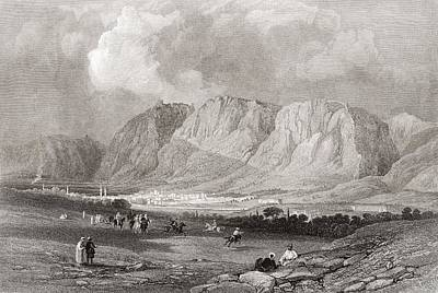 Syria Photograph - Antioch In Syria, From The South West, From A 19th Century Engraving.  From The Imperial Bible by Bridgeman Images