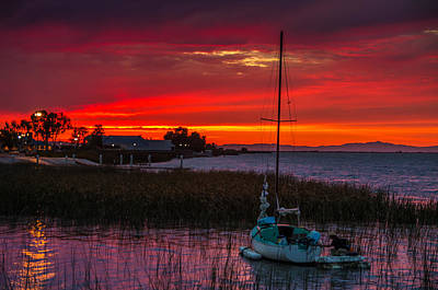 All Black On Trend - Antioch Marina Sunset by Marc Crumpler