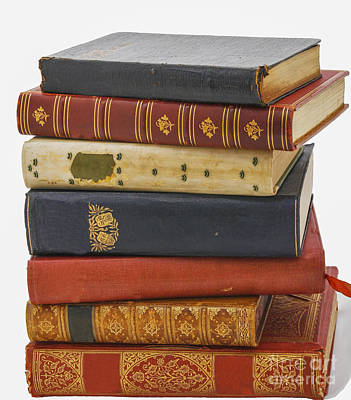 Antiquarian Leather Books Art Print by Patricia Hofmeester